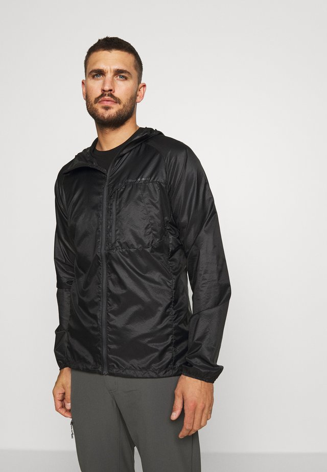 DISTANCE WIND SHELL - Outdoorjacke - black
