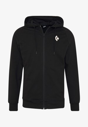 FULLZIP HOODY STACKED - Sweatshirts - black