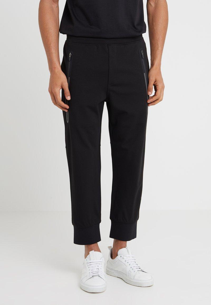 Neil Barrett BLACKBARRETT - HALF ZIP PONTE PANTS - Tracksuit bottoms - black
