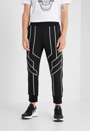 ROBOT LINES  - Pantalon de survêtement - black/white