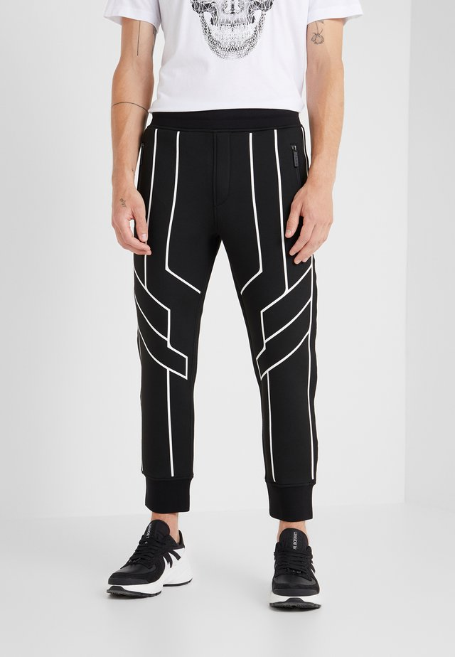 ROBOT LINES  - Jogginghose - black/white