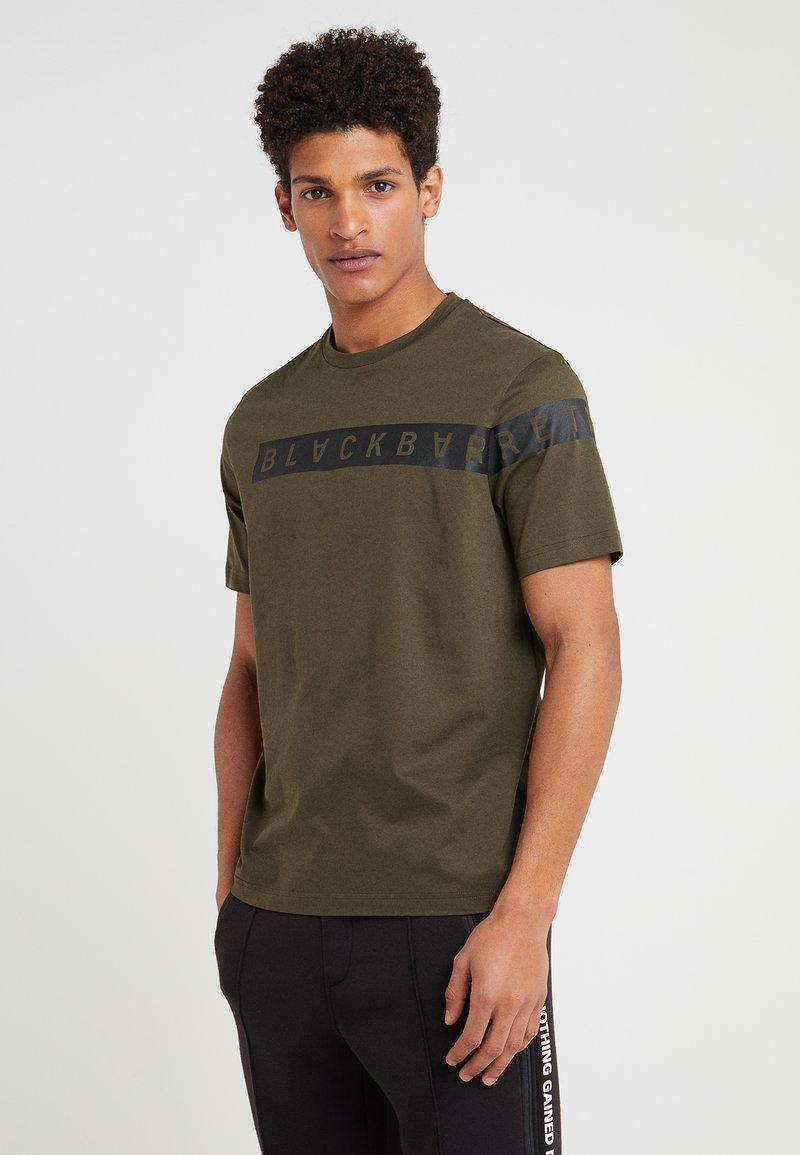 Neil Barrett BLACKBARRETT - BLOCK LOGO - T-Shirt print - dark green/black