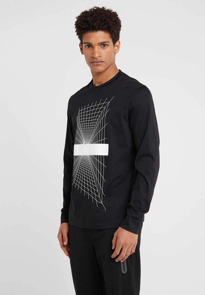 Neil Barrett BLACKBARRETT - PERSPECTIVE CREW - Long sleeved top - black