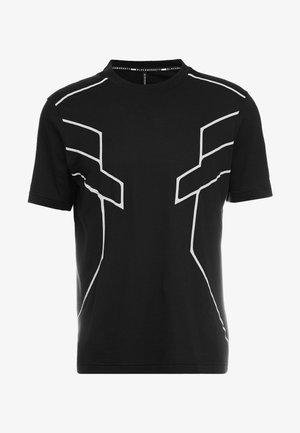 ROBOT LINES - T-shirt imprimé - black/silver