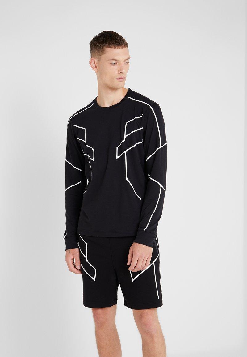 Neil Barrett BLACKBARRETT - ROBOT LINES - T-shirt à manches longues - black/white