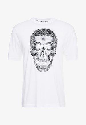 3D SKULL - T-shirt imprimé - white/black
