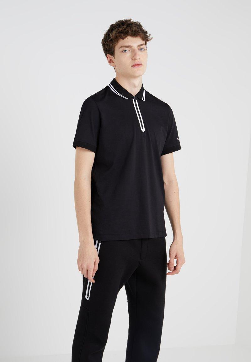 Neil Barrett BLACKBARRETT - HEAT SEAL ZIP  - Polo shirt - black/white