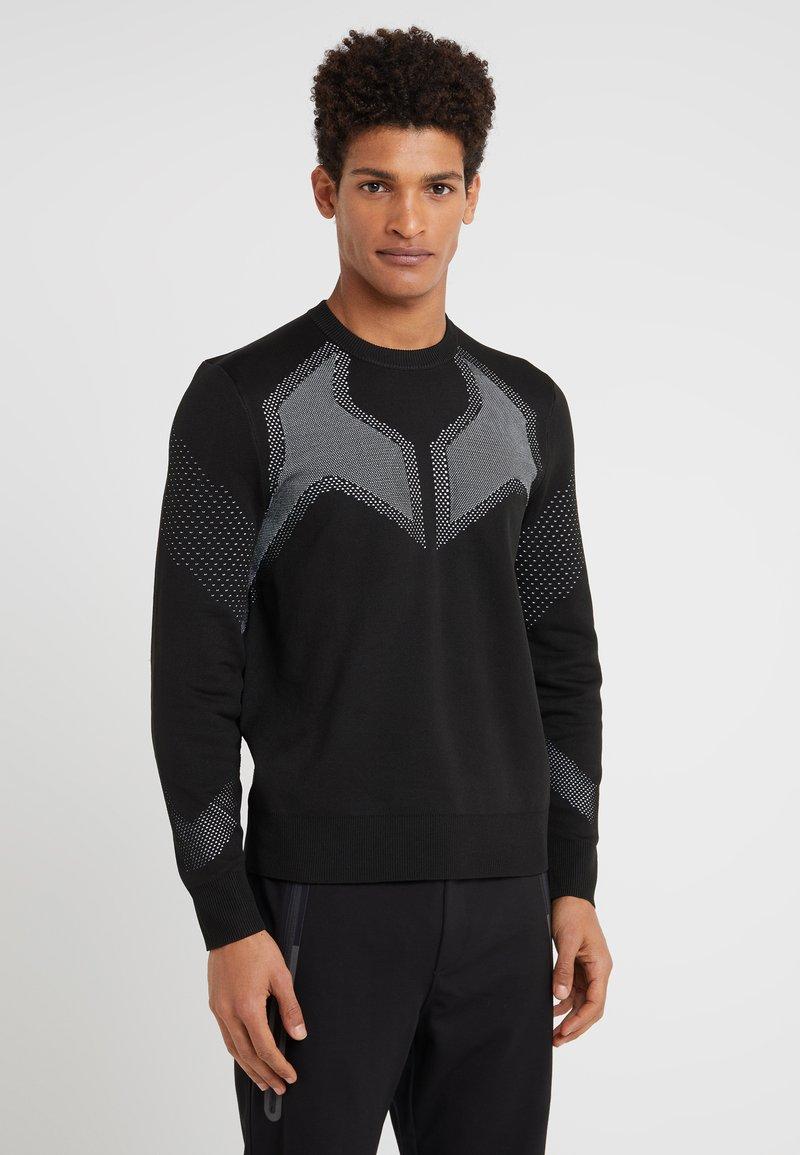 Neil Barrett BLACKBARRETT - TRAINER CREW NECK - Stickad tröja - black