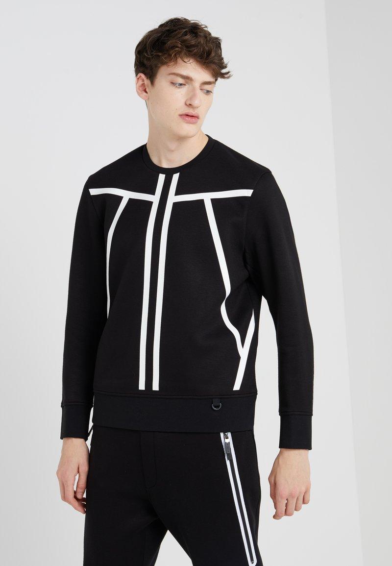 Neil Barrett BLACKBARRETT - TAPE LINE - Sweatshirt - black/white
