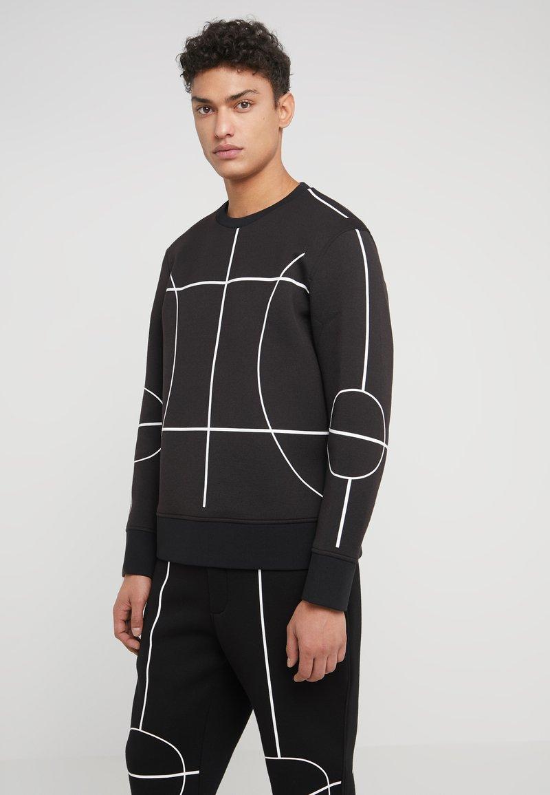Neil Barrett BLACKBARRETT - COURT LINES CREW NECK - Sweatshirt - black