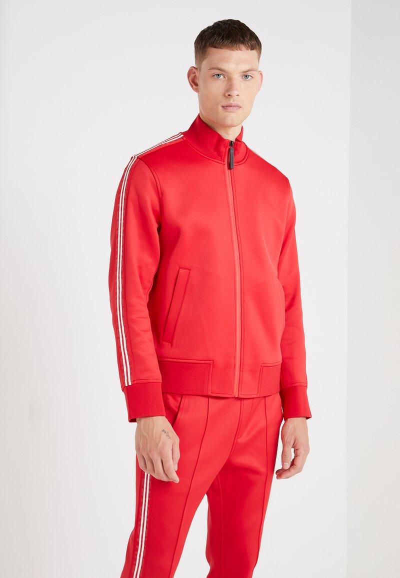Neil Barrett BLACKBARRETT - LOGO TAPE MOCK NECK TRACK - Giacca sportiva - red/white