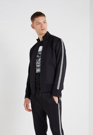 LOGO TAPE MOCK NECK TRACK - Veste de survêtement - black/white