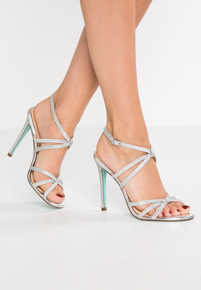 Blue by Betsey Johnson - MYLA - High Heel Sandalette - silver glitter