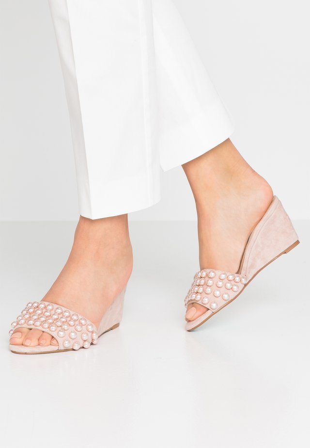 TAYAS - Heeled mules - pale nude