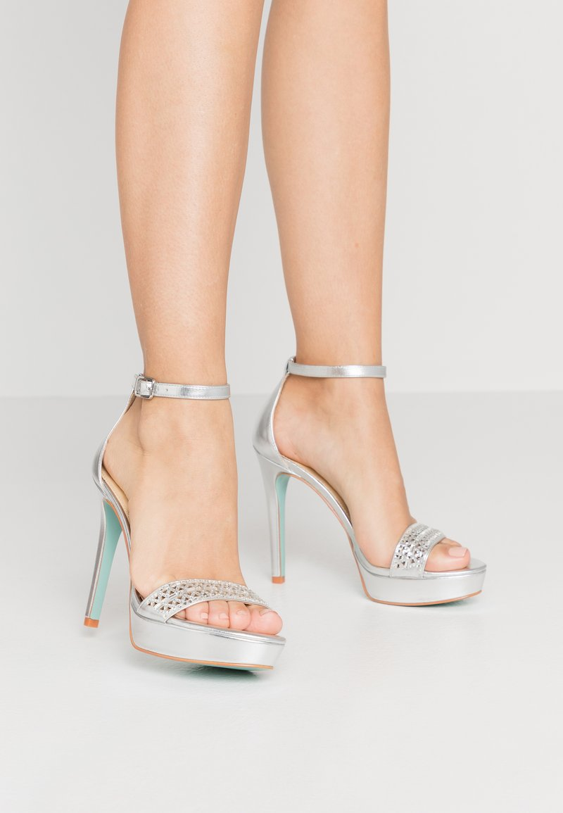Blue by Betsey Johnson - ALMA - Sandaler med høye hæler - silver