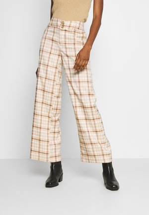 BSLISEL PALLAZZO - Bukse - beige/brown