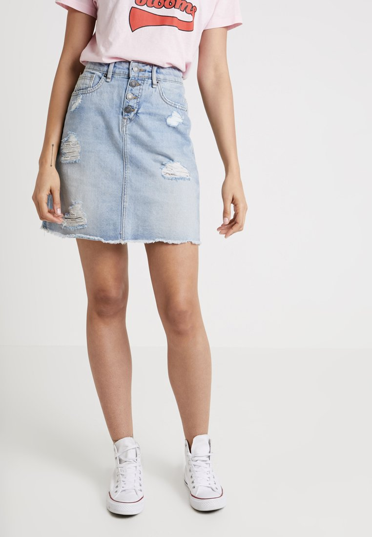 Blendshe - BENOLI - A-line skirt - light blue denim