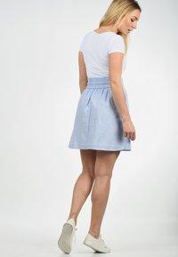 Blendshe - A-LINIEN-ROCK ANNO - A-line skirt - light blue - 1