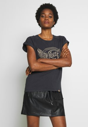 MIA TURN UP - Print T-shirt - black