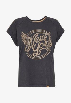MIA TURN UP - T-shirt imprimé - black