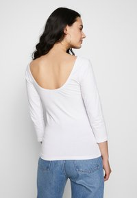 Blendshe - BSLABAN SCOOP NECK - Topper langermet - bright white - 2