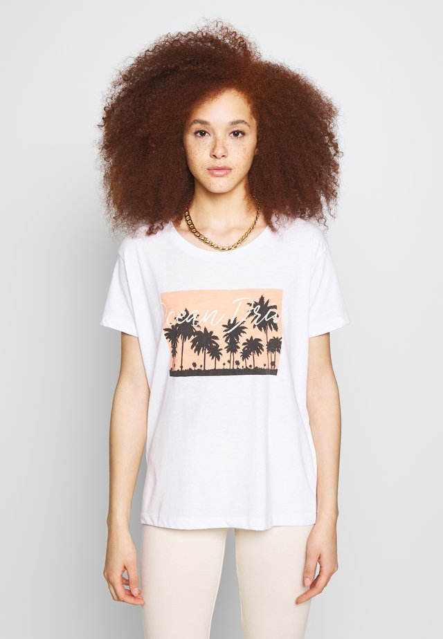 BSCOMO - Print T-shirt - bright white