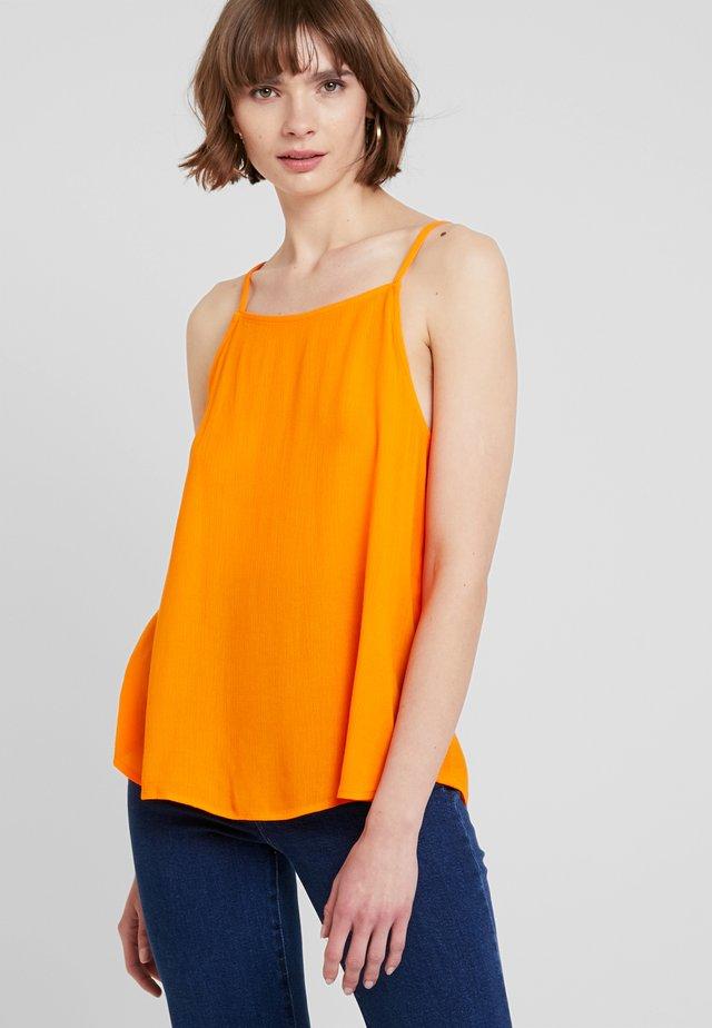 ALANA - Top - vibrant orange