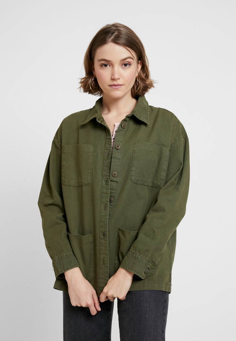 Blendshe - ELENA - Button-down blouse - ivy green