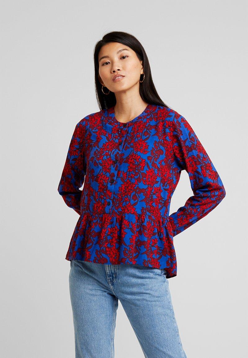 Blendshe - Blouse - blue/red