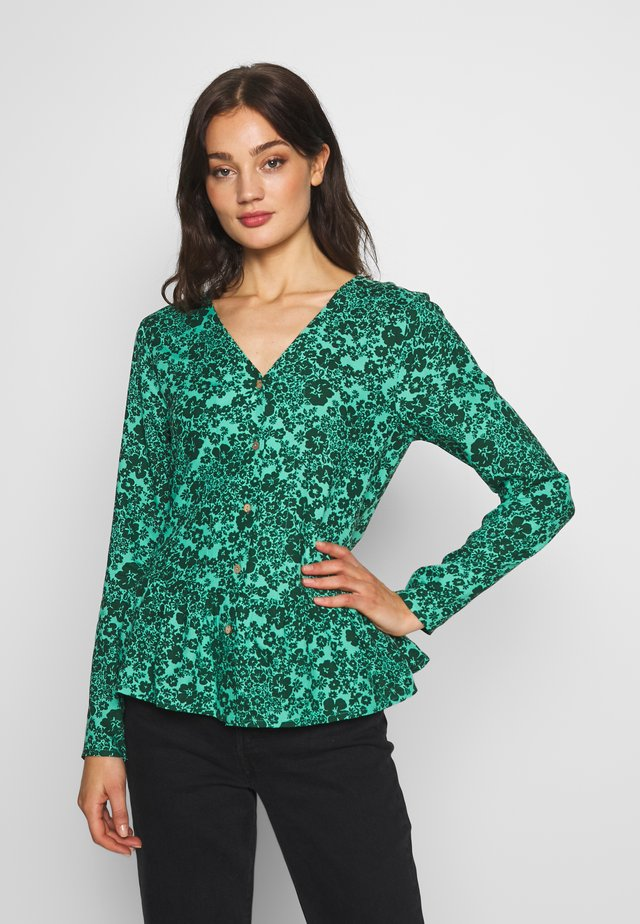 Bluse - dark green/turquoise