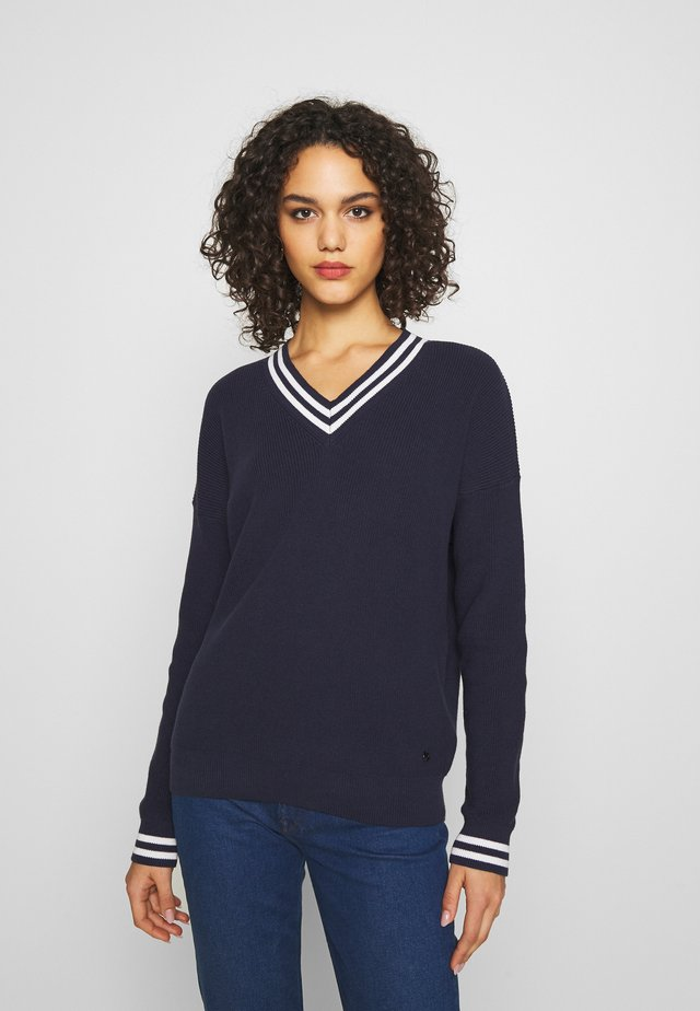 Jersey de punto - peacoat/white