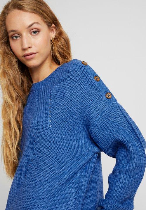 Blendshe BUTTON - Sweter - strong blue Odzież Damska PSVN-VS5 ekonomiczny