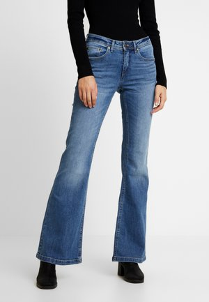BSELVA BRIGHT FLARED - Relaxed fit jeans - dark blue
