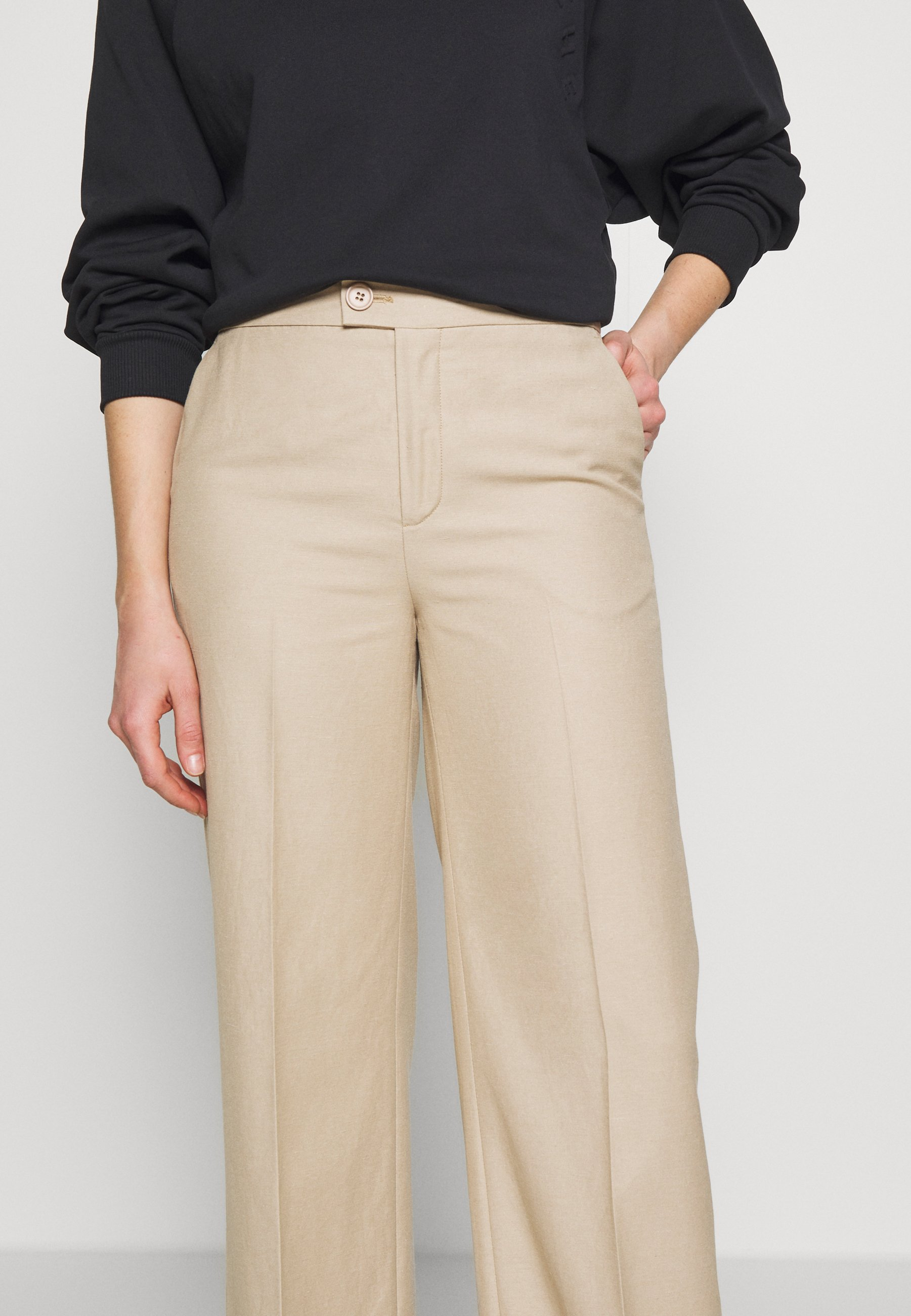 Blanche May Pants - Tygbyxor Lavender Fog