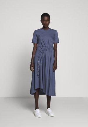 DRAW DRESS - Jersey dress - indigo