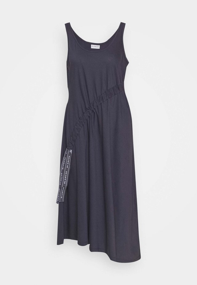 DRAW DRESS TANK - Korte jurk - graphite