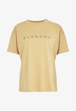 MAIN CONTRAST - T-shirt med print - white sand