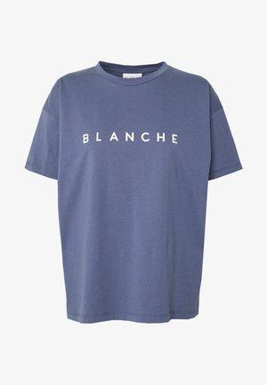 MAIN CONTRAST - T-shirt imprimé - indigo