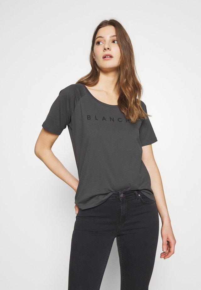 MAIN RAGLAN - T-shirt z nadrukiem - caviar