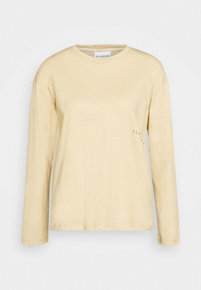 MAIN LIGHT LONGSLEEVE - Maglietta a manica lunga - macadamia