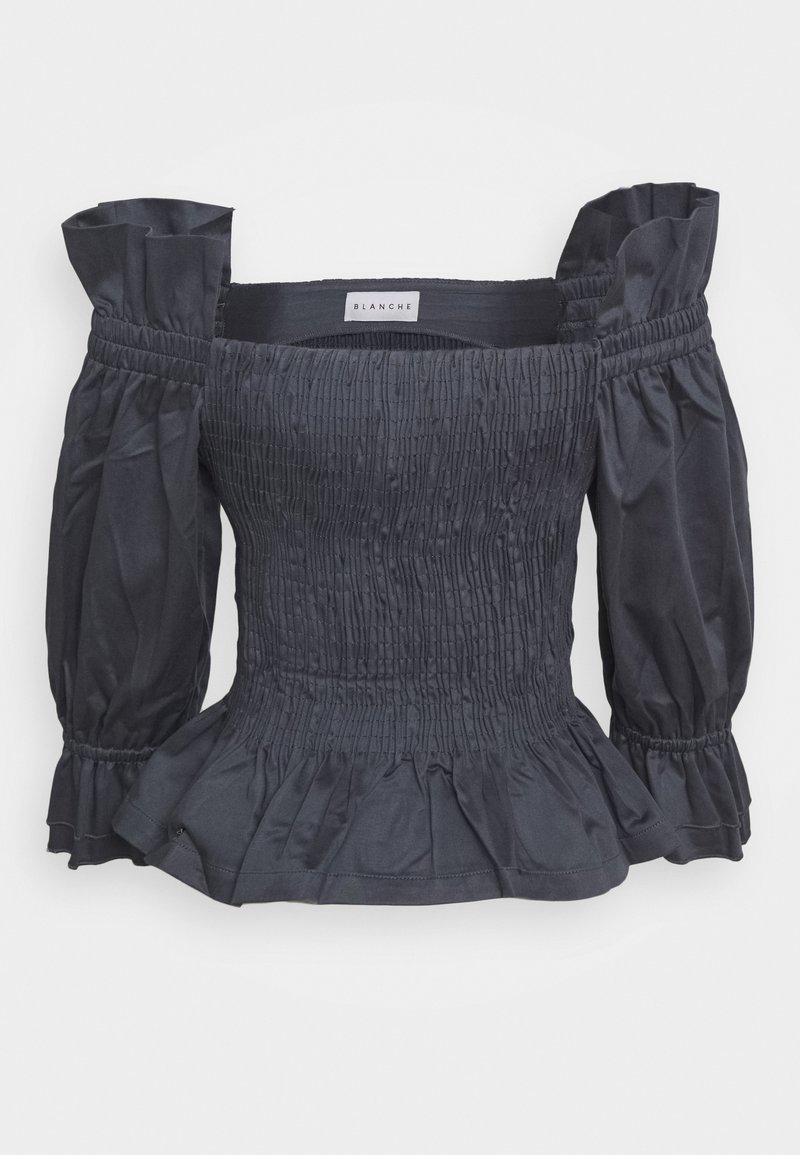 BLANCHE - CIOLA SMOCK BLOUSE - Bluse - graphite