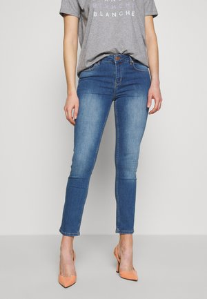 JADE LIGHT CROPPED - Jeans slim fit - indigi heavy enzy