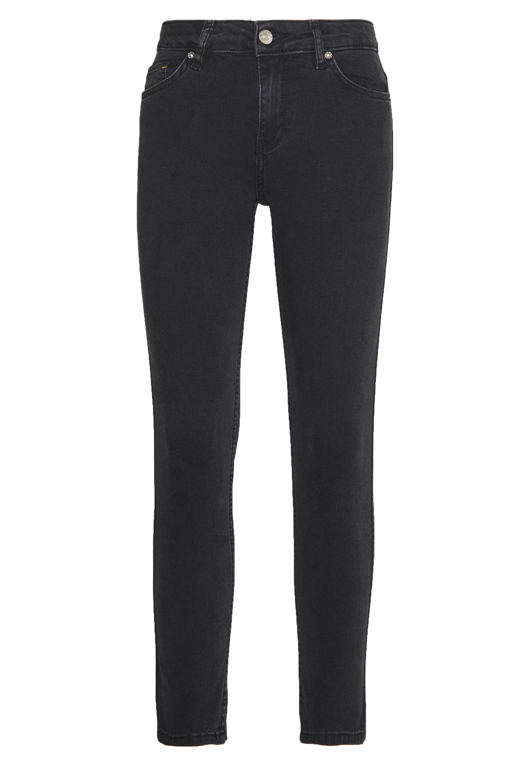 BLANCHE JADE CROPPED - Jeansy Slim Fit - grey stone wash