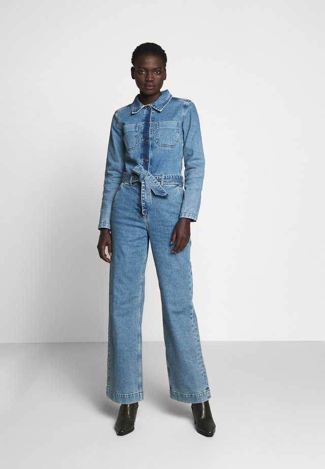 ANNA - Kombinezon - vintage blue