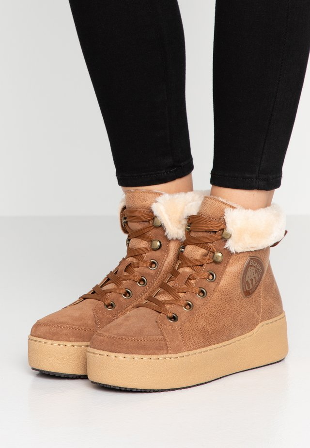 MADELINE - Lace-up ankle boots - cognac