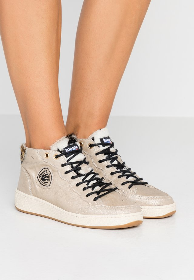 OLYMPIA - High-top trainers - platinum