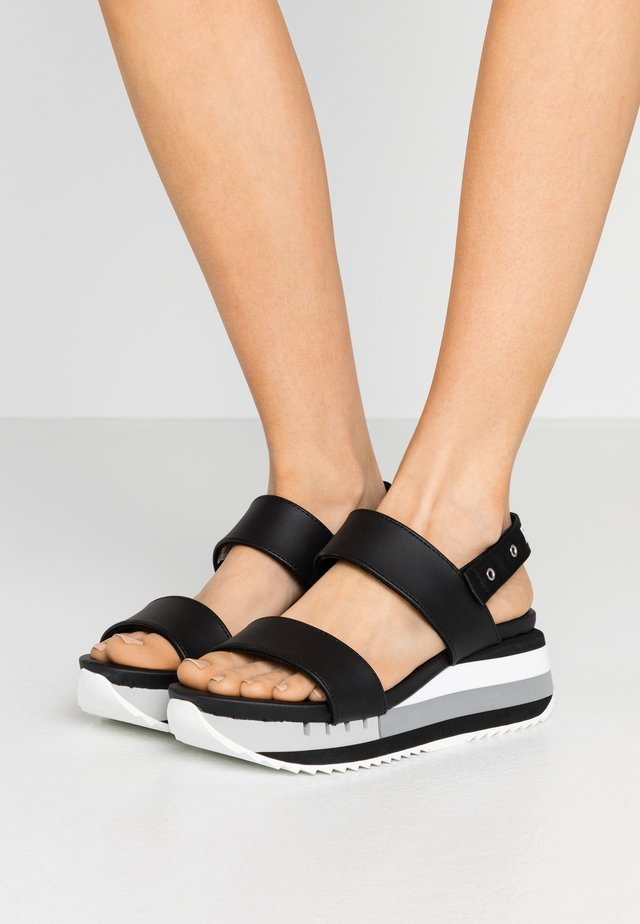 CHARLOTTE - Platform sandals - black