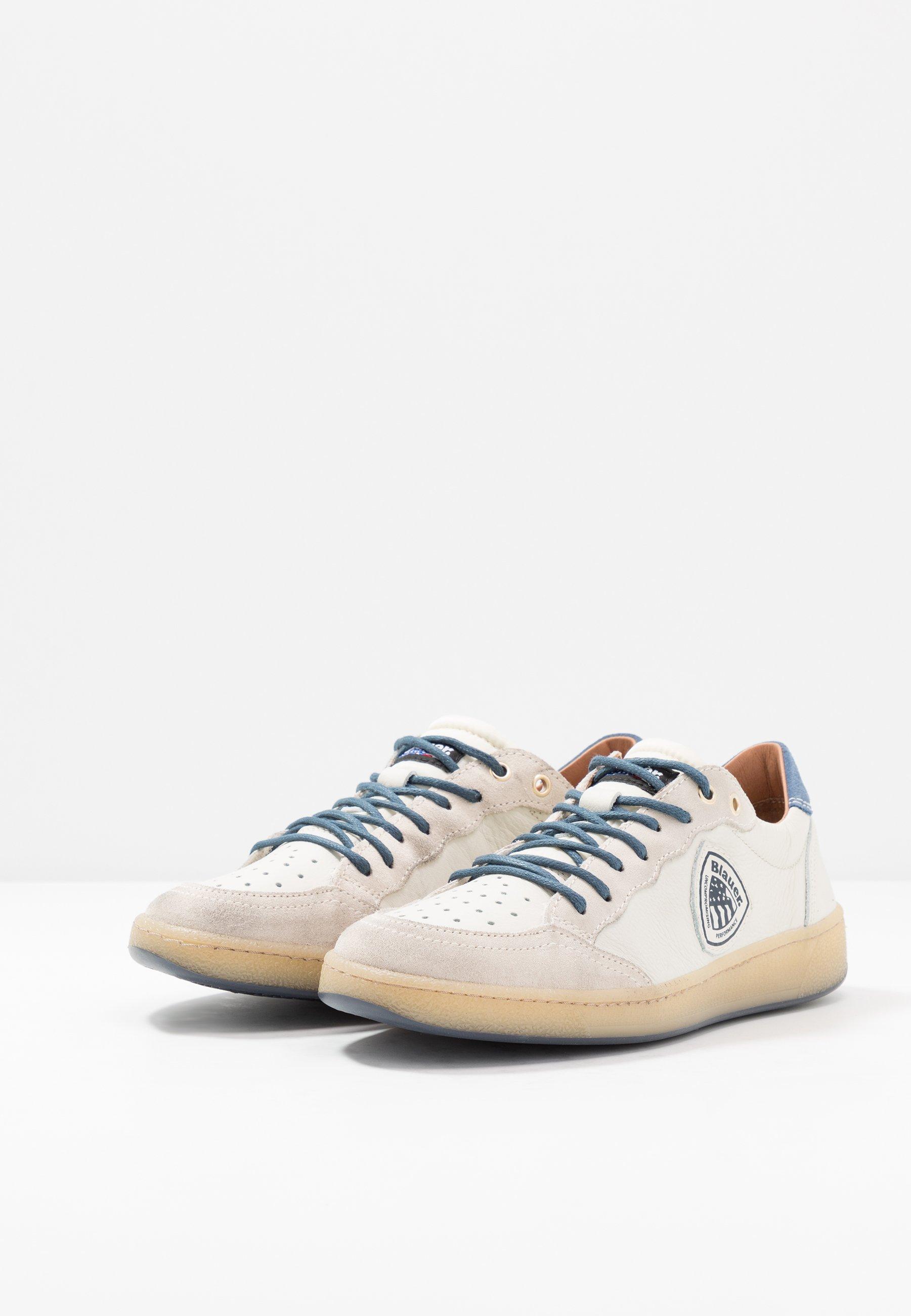 Blauer MURRAY - Baskets basses - white/navy