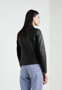 Blauer - CAPO SPALLA - Kožená bunda - black - 2