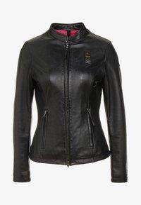 Blauer - CAPO SPALLA - Kožená bunda - black - 3